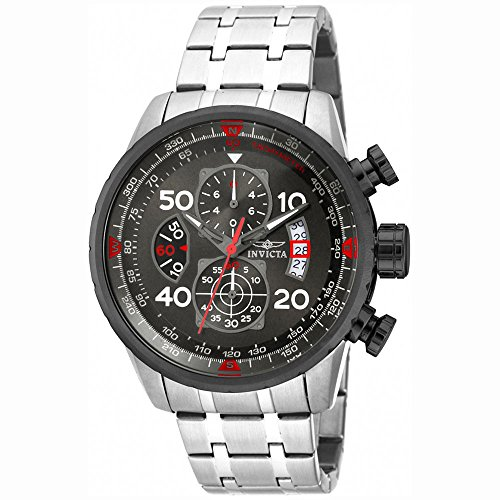 Invicta Men's 17204 AVIATOR Stainless Steel Casual Watch - Invicta Sapphire Wrist Watch