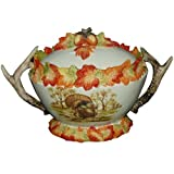 Kaldun and Bogle Hunt Harvest Duck & Turkey Tureen, Multicolored