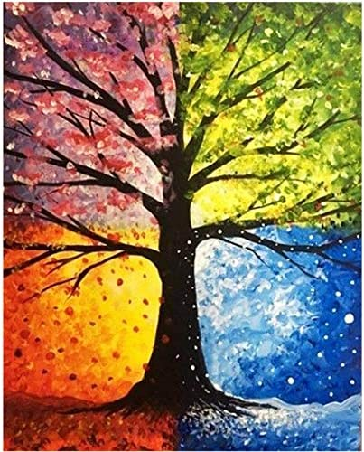 DIY 5D Diamond Painting Kits for Adults Children Tree Diamond Painting Art Rhinestone Cross Stitch Craft Perfect for Relaxation and Home Wall Decor 12x16 Inches