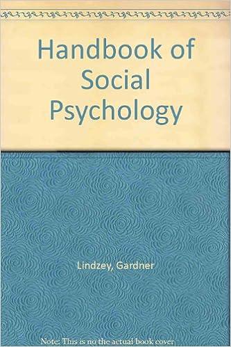 Handbook of Social Psychology.(2vols.)