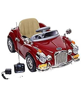 kids ride on vintage style car with remote control by toys motorades