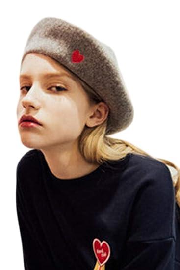 Boinas De Mujer Sombrero De Lana Sólido Artista Francés Sombreros Grey One  Size  Amazon.es  Ropa y accesorios 51c1bb50b56
