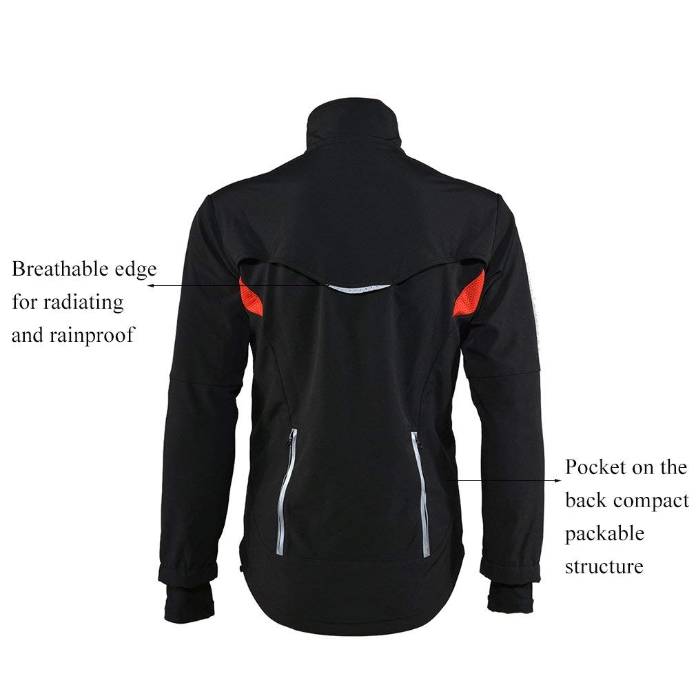 Rockbros Cycling Outdoor Sports Jersey Wind Coat Jacket Long Sleeve Black S-4xl Sporting Goods