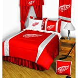 NHL Detroit Red Wings Hockey Team 4pc Twin Bedding Set