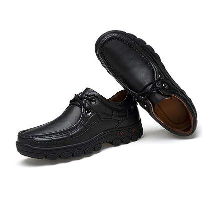 36e6dd343f31d Amazon.com: FGSJEJ Men's Leather Shoes, Leisure Walking, Leather ...