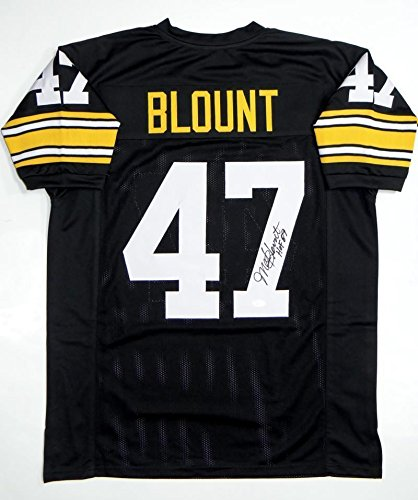 factory price 70f95 acd1d Mel Blount Signed Jersey - Black Pro Style HOF Witnessed ...