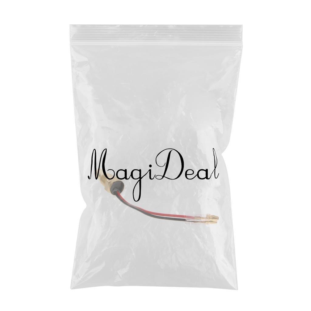 MagiDeal 1 Pieza de Enchufe Digital de Cabeza de Sensor de Temperatura de Agua de Cami/ón Coche 12v-24v 10mm