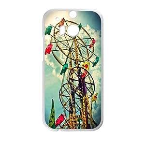 Clzpg Cheap HTC One M8 Case - Ferris wheel case cover