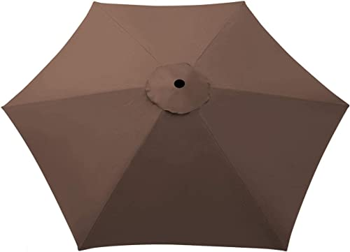 Umbrella Cover Canopy 8.2ft 6 Rib Patio Replacement Top Outdoor-brown