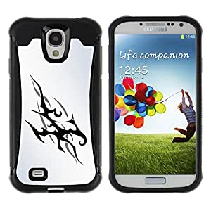 CAZZ Rugged Armor Slim Protection Case Cover Shell // Tribal Flames // Samsung Galaxy S4
