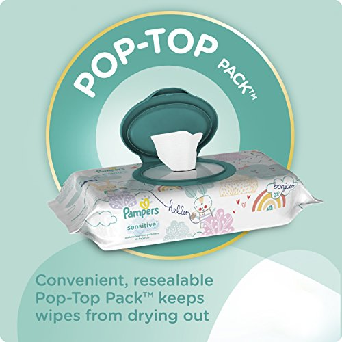 Large Product Image of Pampers Sensitive Water Baby Wipes 7X Pop-Top Packs, 392 Count