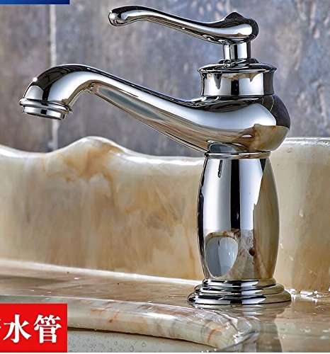 A Gyps Faucet Basin Mixer Tap Waterfall Faucet Antique Bathroom Mixer Bar Mixer Shower Set Tap antique bathroom faucet The copper gold faucet hot and cold bath basin taps antique retro single hole Washb