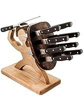 Spartan Steak Knife Set - Carnivore's Edition - Handmade, 10-Piece, Professional Steak Knife Set
