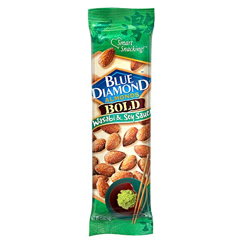 Blue Diamond Almonds, Bold Wasabi & Soy, 1.5 Ounce (Pack of 12) ()