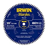 Irwin Tools  1807370 Marples Laser Cut 10-Inch 80-Tooth Hi-Alternate Tooth Bevel Circular Saw Blade