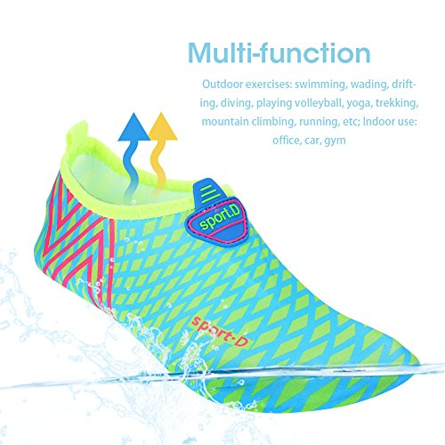 and Sports Multifunctional Sock Beach Aqua Swim Men Surf Skin Women Seagreen Yoga Exercise Shoes Shoes for Beach Water q0pwtF