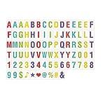 Half & Half Cinema Sign For A4 CINEMATIC LIGHTBOX Letters Symbols, Glyphs Card,A Set Includ 85pcs (Multi Color Letters)