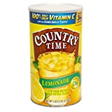 Country Time Lemonade Drink Mix, (Makes 34 Quarts) 82.5-Ounce Canisters (Pack of 2 )