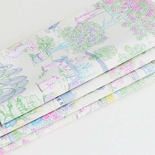 Easter & Spring Pastel Toile Cotton Napkins (Set of 6) ME2Designs Handmade Table Decor