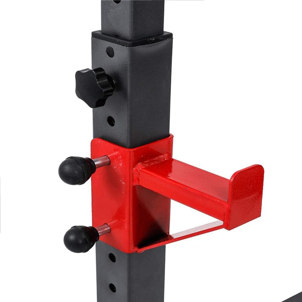 Portatile Rack per Squat Robusto Resistenti Bilanciere Supporto Regolabile Pesistica Rastrelliera