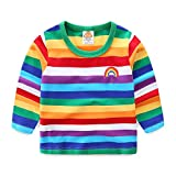 Best Toddler Shirts - Mud Kingdom Toddler Boys T-Shirts Long Sleeve Rainbow Review