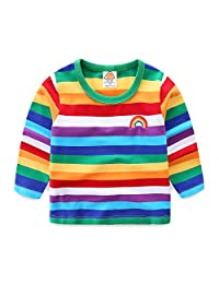 Mud Kingdom Boys T-Shirts Rainbow Stripe