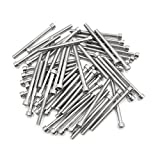 uxcell 50pcs Silver Tone Stainless Steel Motorcycle Hexagon Bolts Hex Screws M6 x 70