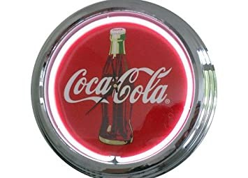 Amazonde Neonuhr Coca Cola Wanduhr Deko Uhr Leuchtuhr Usa 50s