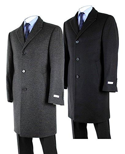 - Hathaway Platinum Men's Wool & Cashmere Italian Top Coat-black (42R)