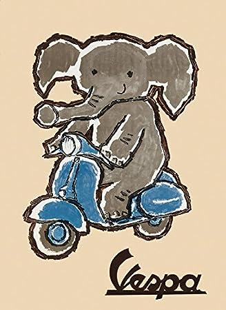 Amazon.com: Elefante Riding Motorcycle Scooters de Vespa ...