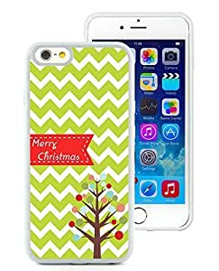 2014 Newest iPhone 6 Case,Chevron Christmas Tree White iPhone 6 4.7 Inch TPU Case 1 hjbrhga1544