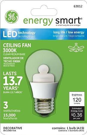 GE Lighting 63012 Smart LED w de energía (15-watt Replacement) 120-lumen A15 Bombilla con base mediana, 1-Pack: Amazon.es: Bricolaje y herramientas
