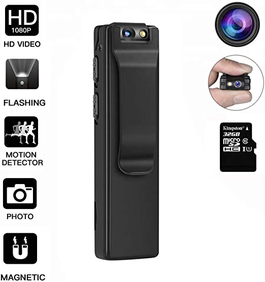 Amazon.com: DEXILIO - Mini cámara de cuerpo portátil, HD ...