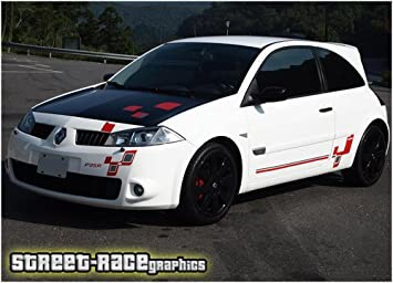 CLIO CUP SUNSTRIP CAR DECALS GRAPHICS STICKER choose any 2 colours from list