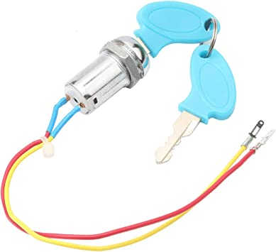 Haudang Universal Starting Switch Key Lock Wires Ignition Power Keys Switch for Electric Bike Scooters E-Bike