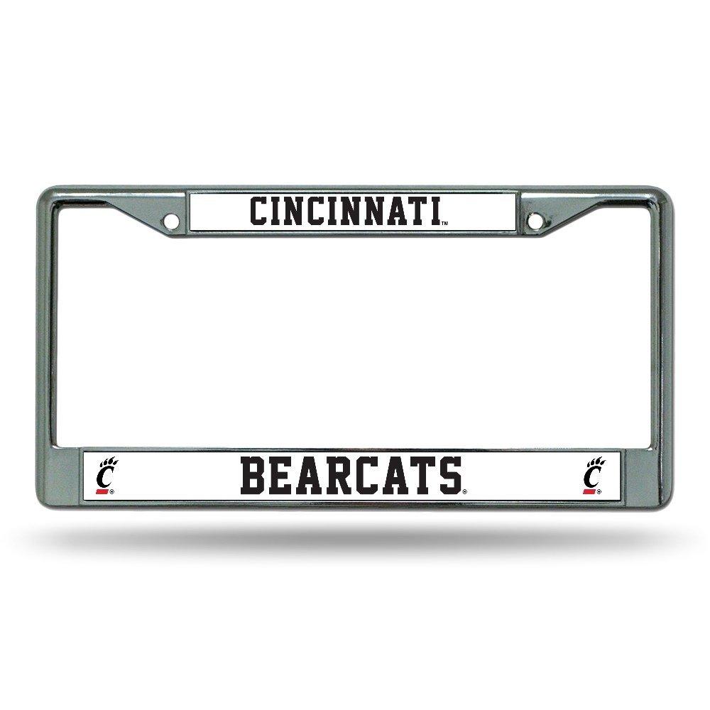 FC300402 Rico Industries NCAA Cincinnati Bearcats Standard Chrome License Plate Frame Inc