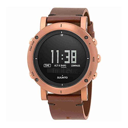Suunto Essential Digital Dial SS Leather Quartz Men's Watch SS021213000