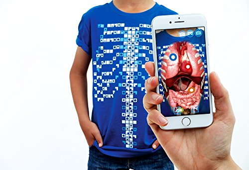 Curiscope Virtuali-Tee Educational Augmented Reality T-Shirt