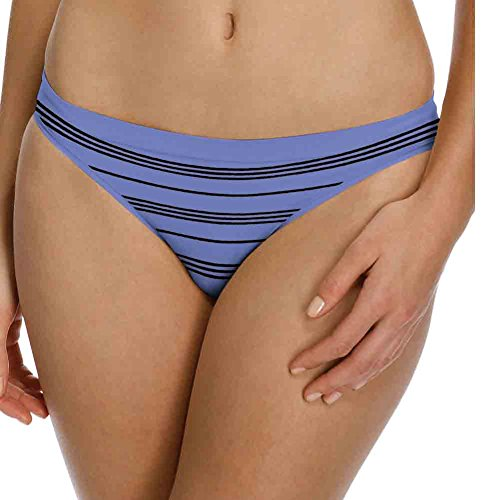 Barely There Swimwear (Barely There CustomFlex Fit™ Thong,2556,L,Oxygen Stripe)