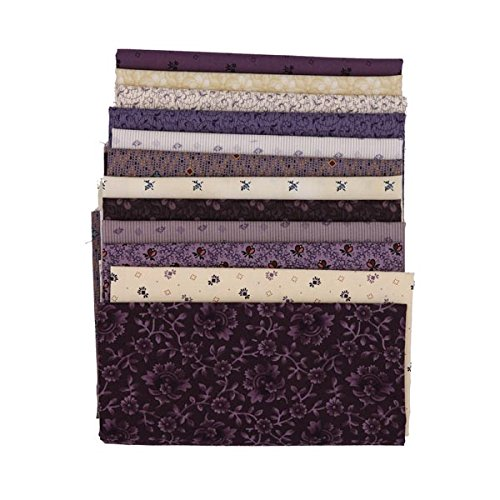 Marcus Fabrics Antique Cotton Old Plum Calicos by Pam Buda Twelve Fat Quarters