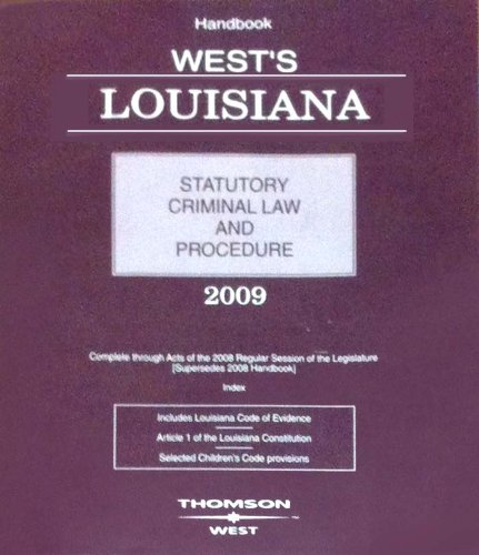 Title: WEST'S LOUISIANA STAT.CRIMINAL
