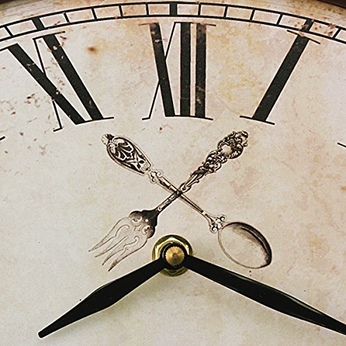 Stonebriar Rustic Farmhouse Oval Metal Wall Clock with Red Rust Finish, Shabby Chic and DIY Home Decor Accents for the Kitchen, Living Room, and Bedroom, Battery Operated by Stonebriar (Image #2)