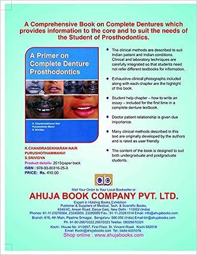 A Primer on Complete Denture Prosthodontics: K