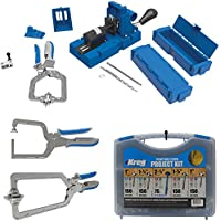 Kreg K5MS-KREG Jig K5 Master System Wood Clamp with Pocket-Hole Screw Kit and Clamp Bundle