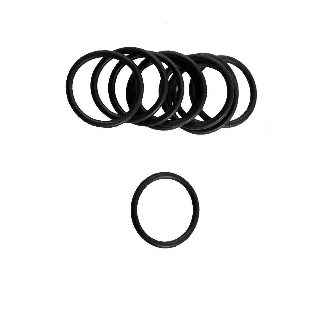 10 Pcs 19.6mm x 16mm x 1.8mm Black Rubber O Ring Oil Sealing Gasket sourcingmap a12100800ux1080