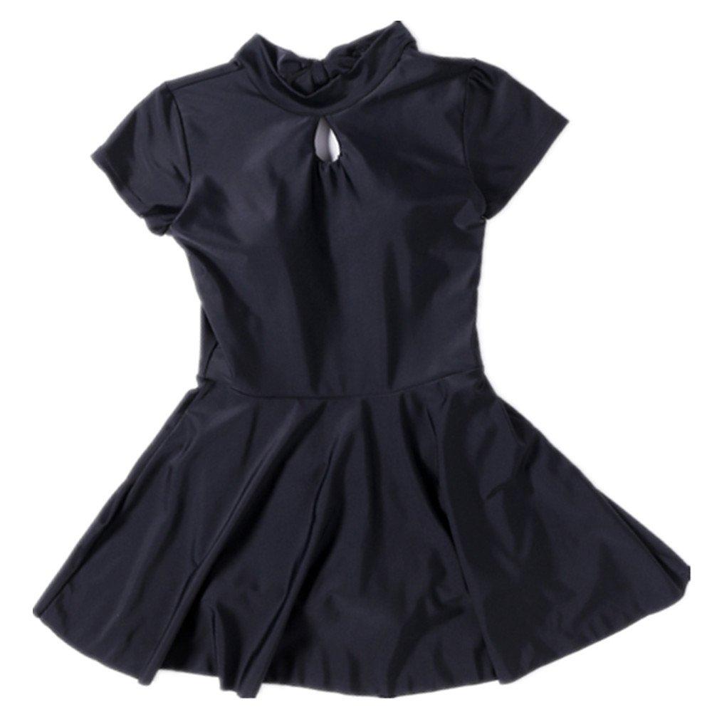 女性の 水着 保守的な 半袖 ドレス 水着 保守的な 水着 に適して 水泳 ウェディング エクササイズ スパ (Size : XL) B07F29NV37 X-Large