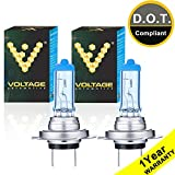Voltage Automotive H7 Headlight Bulb Polarize White Replacement for Car Motorcycle (Pair) - Professional Upgrade...