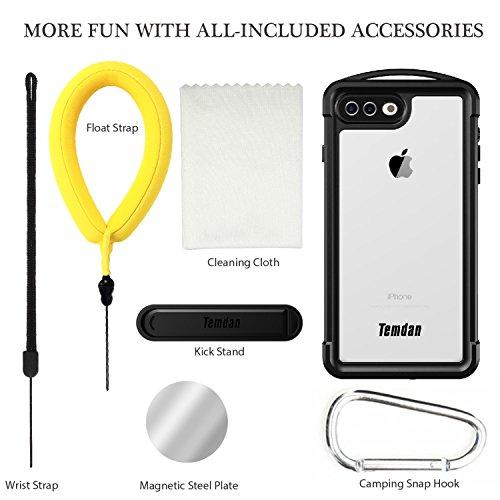 iPhone 7 plus/8 plus Waterproof Case, Temdan SUPREME Series Waterproof Case with Carabiner Built in Screen Protector Outdoor Rugged Shockproof Case for iPhone 7 plus and iPhone 8 plus(5.5 inch) by Temdan (Image #6)