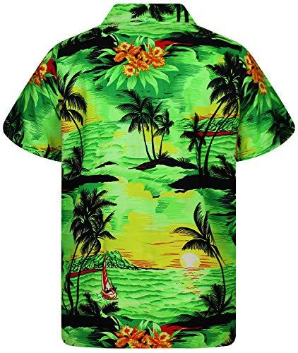 Xs Chemise o V Funky Vert Hawaienne h 12xl tPPqX