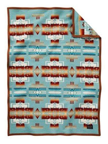 Pendleton Chief Joseph Crib Blanket, Aqua by Pendleton